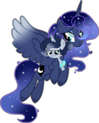 Size: 1251x1552 | Tagged: artist:celestialmoonyt, baby, baby pony, maternaluna, oc, oc:eclipsa, offspring, parent:king sombra, parent:princess luna, parents:lumbra, pony, princess luna, safe, simple background, transparent background