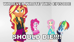 Size: 1920x1080 | Tagged: angry, edit, edited screencap, editor:sonic ranger, equestria girls, equestria girls series, fluttershy, galaxy quest, geode of empathy, geode of fauna, geode of sugar bombs, geode of super speed, magical geodes, opinion, pinkie pie, rainbow dash, red face, rollercoaster of friendship, safe, screencap, sigourney weaver, sunset shimmer