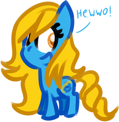 Size: 844x866 | Tagged: artist:technoponywardrobe, browser ponies, chibi, cute, internet explorer, oc, oc:internet explorer, safe, smiling, smol, solo