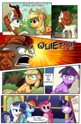 Size: 1800x2740 | Tagged: alicorn, angry, applejack, artist:candyclumsy, autumn blaze, comic, earth pony, female, floppy ears, forest, kirin, mare, meme, music notes, pegasus, pinkie pie, pony, ptsd, quiet, ragelight glimmer, rainbow dash, rarity, safe, scared, shut up twilight, singing, sky, sounds of silence, stare, thousand yard stare, tree, twilight's castle, twilight sparkle, twilight sparkle (alicorn), unicorn