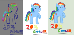 Size: 1422x681 | Tagged: artist:duskbelle2310, artist:nightshadowmlp, bitmap, colored, color edit, edit, process, rainbow dash, raised hoof, safe, text
