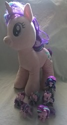 Size: 1652x3055 | Tagged: safe, artist:edhelistar, derpibooru exclusive, starlight glimmer, pony, equestria girls, beanie, brushable, build-a-bear, clothes, cutie mark crew, doll, equestria girls minis, hat, human ponidox, irl, mcdonald's happy meal toys, multeity, photo, plushie, self paradox, self ponidox, starlight cluster, toy