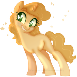Size: 1438x1431 | Tagged: artist:rowdykitty, female, mare, oc, oc:honey flower, pony, safe, simple background, solo, transparent background, unicorn