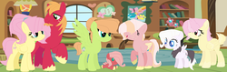Size: 1024x324 | Tagged: artist:galaxyflare2004, big macintosh, family, female, fluttermac, fluttershy, male, offspring, parent:big macintosh, parent:fluttershy, parents:fluttermac, safe, shipping, straight