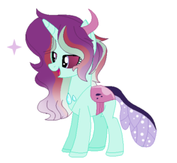 Size: 507x467 | Tagged: artist:blue-versper, changepony, female, oc, oc:viridian blaze, parents:glimax, parent:starlight glimmer, parent:thorax, safe, simple background, solo, transparent background