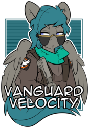 Size: 1280x1839 | Tagged: artist:bbsartboutique, aviator glasses, gun, oc, oc only, oc:vanguard velocity, pegasus, pony, safe, the division, weapon