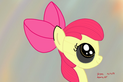 Size: 2400x1592 | Tagged: safe, artist:cityflyer502, apple bloom, pony, robot, robot pony, adorabloom, apple bloom bot, cute