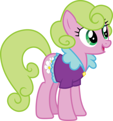 Size: 3000x3211 | Tagged: .ai available, artist:cloudyglow, clothes, daisy, female, flower wishes, lavender bloom, mare, open mouth, pony, safe, shirt, simple background, solo, transparent background, vector