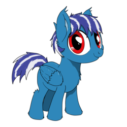 Size: 1500x1500   Tagged: safe, artist:bigshot232, oc, oc only, oc:evening mist, pegasus, pony, 2019 community collab, derpibooru community collaboration, chest fluff, colt, cute, ear fluff, ear tufts, fluffy, hoof fluff, leg fluff, looking at you, male, messy mane, ocbetes, simple background, smiling, solo, transparent background, wing fluff