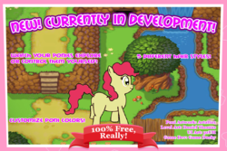 Size: 1034x689 | Tagged: safe, artist:apricot strudel, artist:artattax, pony, advertisement, game, generic pony, solo