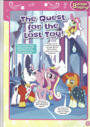Size: 826x1169 | Tagged: safe, princess cadance, shining armor, sunburst, pony, comic, magazine scan, the quest for the lost toy