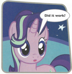 Size: 291x301 | Tagged: safe, starlight glimmer, pony, cropped, magazine scan, solo