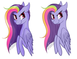 Size: 2200x1700 | Tagged: artist:aledera, bust, female, mare, oc, oc:rainbow spark, pegasus, pony, portrait, safe, simple background, solo, transparent background