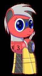 Size: 1100x2000 | Tagged: safe, artist:trackheadtherobopony, oc, oc:trackhead, original species, pony, robot, robot pony, wheelpone, rule 63, solo