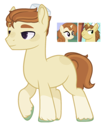 Size: 1176x1336 | Tagged: artist:m-00nlight, cinnamon chai, cinnamon donut, donut joe, earth pony, male, oc, offspring, parent:cinnamon chai, parent:donut joe, parents:cinnamon donut, pony, safe, simple background, solo, stallion, transparent background