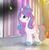 Size: 1308x1348 | Tagged: safe, artist:parisa07, king sombra, princess flurry heart, pony, umbrum, older, older flurry heart, scar, smoke