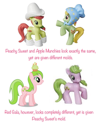 Size: 1242x1544 | Tagged: safe, apple munchies, peachy sweet, red gala, pony, apple family member, blind bag, friendship is magic collection, toy