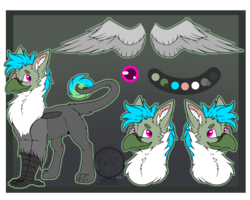 Size: 2500x2000 | Tagged: safe, artist:fizzwings, oc, oc:fluffy (the griffon), griffon, chest fluff, ear fluff, fluffy, looking at you, male, reference sheet, wings