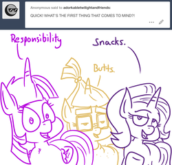 Size: 1280x1229 | Tagged: safe, artist:adorkabletwilightandfriends, moondancer, starlight glimmer, twilight sparkle, alicorn, pony, unicorn, ask adorkable twilight, ask adorkable twilight and friends, comic, dialogue, tumblr, twilight sparkle (alicorn)