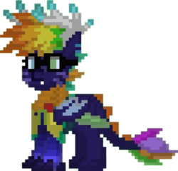 Size: 512x494 | Tagged: safe, oc, oc only, oc:dragon chick, dracony, hybrid, pony, pony town, simple background, transparent background