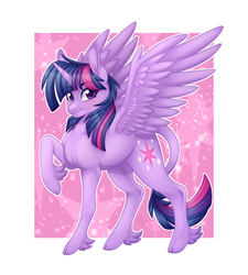 Size: 2700x3000 | Tagged: alicorn, artist:theanthropony, classical unicorn, cloven hooves, female, leonine tail, looking at you, mare, pony, safe, solo, twilight sparkle, twilight sparkle (alicorn), unicorn, unshorn fetlocks