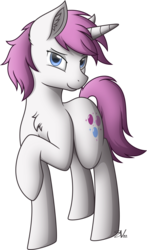 Size: 3000x5103 | Tagged: safe, artist:starlessnight22, oc, oc:glimmerlight, pony, unicorn, fallout equestria, fallout equestria: murky number seven, bedroom eyes, chest fluff, ear fluff, fanfic art, female, looking at you, mare, raised hoof, simple background, solo, transparent background, vector