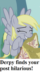 Size: 320x576 | Tagged: bronybait, caption, cropped, cute, derpabetes, derpy hooves, edit, edited screencap, pony, reaction image, safe, screencap, slice of life (episode)