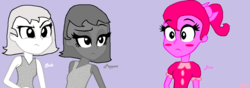 Size: 1317x461 | Tagged: artist:coriisthename, bow (inanimate insanity), equestria girls, equestria girls-ified, inanimate insanity, pepper (inanimate insanity), safe, salt (inanimate insanity)