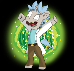 Size: 1024x993 | Tagged: artist:northerndash, grannies gone wild, ponified, pony, pony rick, rick and morty, rick sanchez, safe, solo