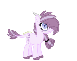 Size: 2400x1900 | Tagged: safe, artist:antiwalkercassie, oc, oc:rose quartz, dracony, hybrid, female, interspecies offspring, offspring, parent:rarity, parent:spike, parents:sparity, simple background, solo, transparent background