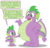 Size: 4342x4133   Tagged: safe, artist:aleximusprime, spike, dragon, absurd resolution, adult, adult spike, belly, belly boop, boop, chubby, fat, fat spike, future spike, older, older spike, plump, poking, raised eyebrow, self paradox, simple background, speech bubble, time travel, transparent background, vector, weight gain, winged spike