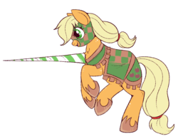 Size: 800x625 | Tagged: applejack, artist:lulubell, clothes, jousting, jousting outfit, pony, safe, simple background, solo, transparent background