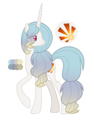 Size: 1600x2064 | Tagged: artist:shining-omega, female, mare, oc, oc:sundance, offspring, parent:princess celestia, pony, safe, simple background, solo, transparent background, unicorn