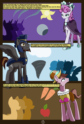 Size: 4750x7000 | Tagged: safe, artist:chedx, chancellor puddinghead, commander hurricane, princess platinum, earth pony, pegasus, pony, unicorn, comic:mlp old tales, absurd resolution, adventure, comic, earth pony tribe, fanfic, fantasy, female, male, mare, pegasus tribe, stallion, unicorn tribe