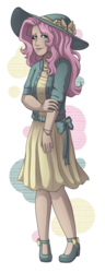 Size: 1900x4960 | Tagged: artist:kikirdcz, clothes, female, fluttershy, human, humanized, safe, simple background, solo, transparent background