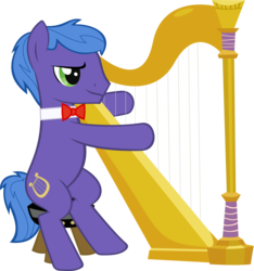 Size: 2164x2316 | Tagged: safe, artist:breadking, parish nandermane, pony, harp, musical instrument, simple background, solo, transparent background, vector