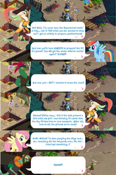 Size: 1280x1936 | Tagged: boyle, captain celaeno, fluttershy, gameloft, hippogriff, klugetown, mullet (character), my little pony: the movie, parrot pirates, pirate, rainbow dash, safe