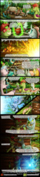 Size: 1200x5238 | Tagged: artist:bonaxor, changedling, changeling, comic, comic:the greater flame, dynamite, explosion, explosives, gallus, hard hat, magic, oc, oc:berzie, ocellus, oc:stainless key, pony, safe, sandbar, silverstream, smolder, statue, time travel, weapon, yona