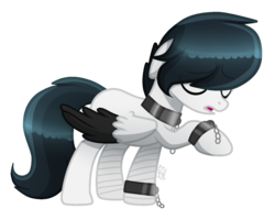 Size: 1321x1057 | Tagged: safe, artist:sugaryicecreammlp, oc, oc:chen, pegasus, pony, hair over eyes, male, simple background, solo, stallion, transparent background, two toned wings