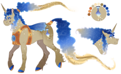 Size: 1418x876 | Tagged: artist:bijutsuyoukai, female, mare, oc, oc:quasar, offspring, parent:doctor whooves, parent:princess luna, pony, safe, solo, unicorn
