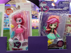 Size: 1600x1200 | Tagged: safe, pinkie pie, roseluck, equestria girls, equestria girls series, background human, clothes, comparison, doll, equestria girls minis, fashion squad, irl, photo, skirt, toy