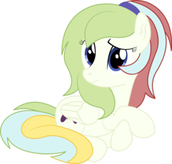 Size: 4913x4685   Tagged: safe, artist:cyanlightning, oc, oc only, oc:gamer beauty, pegasus, pony, 2019 community collab, derpibooru community collaboration, .svg available, absurd resolution, chest fluff, ear fluff, female, folded wings, mare, simple background, sitting, solo, transparent background, vector, wings