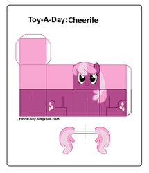 Size: 600x699 | Tagged: safe, artist:grapefruitface1, cheerilee, pony, arts and crafts, craft, female, papercraft, printable, toy a day, updated