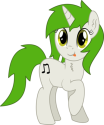 Size: 4063x4872   Tagged: safe, artist:cyanlightning, oc, oc only, oc:bumpy beatz, pony, unicorn, 2019 community collab, derpibooru community collaboration, .svg available, absurd resolution, chest fluff, ear fluff, female, mare, raised hoof, simple background, solo, tongue out, transparent background, vector