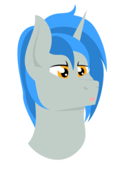 Size: 2156x3000 | Tagged: artist:alltimemine, bust, clothes, fallout equestria, fanfic, fanfic art, female, horn, inkscape, lineless, mare, oc, oc:homage, oc only, open mouth, pony, portrait, safe, simple background, solo, transparent background, unicorn, vector