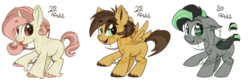Size: 1280x427 | Tagged: adoptable, artist:binkyt11, base used, bat pony, beanbrows, chibi, cloven hooves, curved horn, dock, ear fluff, eyebrows, fangs, female, folded wings, freckles, heart eyes, horn, jewelry, male, mare, necklace, oc, oc only, :p, pegasus, pony, safe, silly, simple background, slit pupils, spread wings, stallion, starry eyes, tail wrap, tongue out, transparent background, unicorn, unshorn fetlocks, watermark, wingding eyes, wings