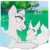 Size: 654x656 | Tagged: safe, artist:zakkurro, oc, oc only, eevee, pony, chest fluff, commission, digital art, ear fluff, female, grass, looking at each other, mare, pokémon, prone, smiling, solo, tree, ych example, your character here