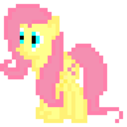 Size: 960x960 | Tagged: artist:joeydr, female, fluttershy, mare, pegasus, pixel art, pony, safe, simple background, solo