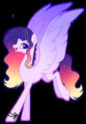 Size: 2103x3024   Tagged: safe, artist:ponywithmagic, oc, oc only, oc:sunset violin, pegasus, pony, female, magical lesbian spawn, mare, offspring, parent:princess celestia, parent:rainbow dash, parents:dashlestia, solo