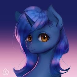 Size: 3700x3700 | Tagged: safe, artist:effervesket, oc, oc only, oc:starlight blossom, pony, unicorn, bust, portrait, solo